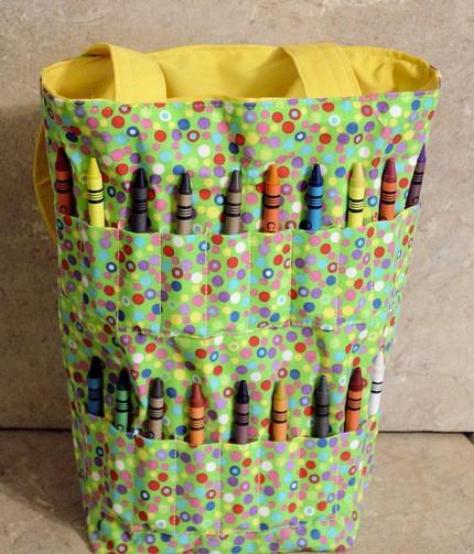Inexpensive Christmas Idea Crayon Wrap Apron Or