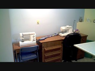 Heidi's and Mom's sewing machines