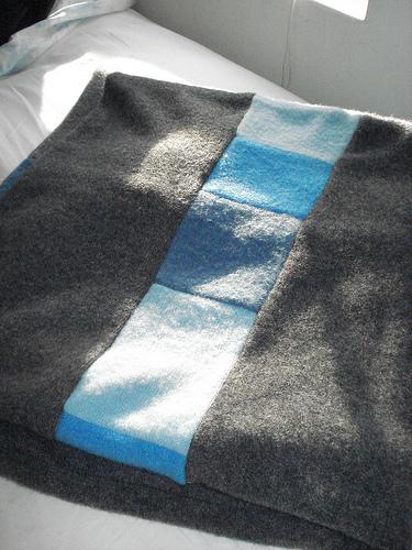 Valerina15 upcycled cashmere baby blanket