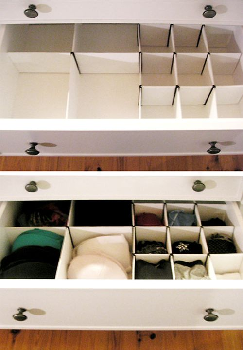 Apartment therapy drawer organizer