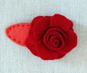 Rose barette purl bee