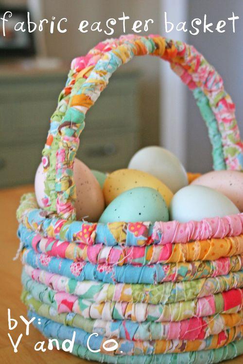 Fabric easter basket moda bakeshop